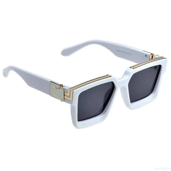 WHITE-GREEN TRENDY FAMOUS BADSHAH | JAS MANAK | SAHIL KHAN SQUARE UNISEX STYLISH SUNGLASSES