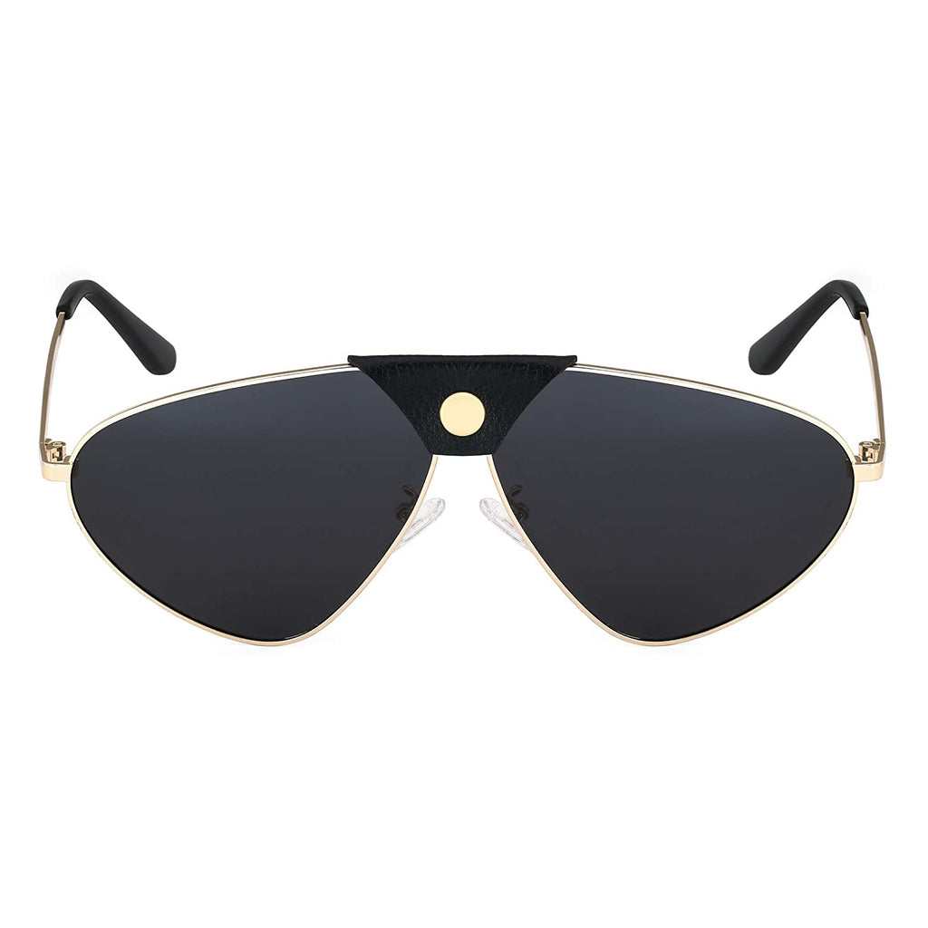 Mens Cat Eye Sunglasses Frame Colour- Golden, Lens Colour- Black