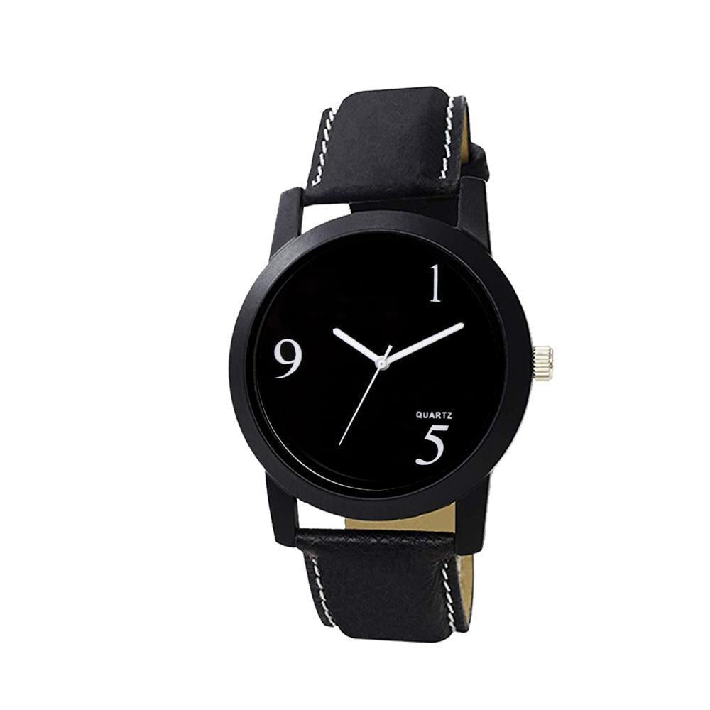 1804 Unique & Premium Analogue Black Dial stylish Leather Strap watch (Watch 4)