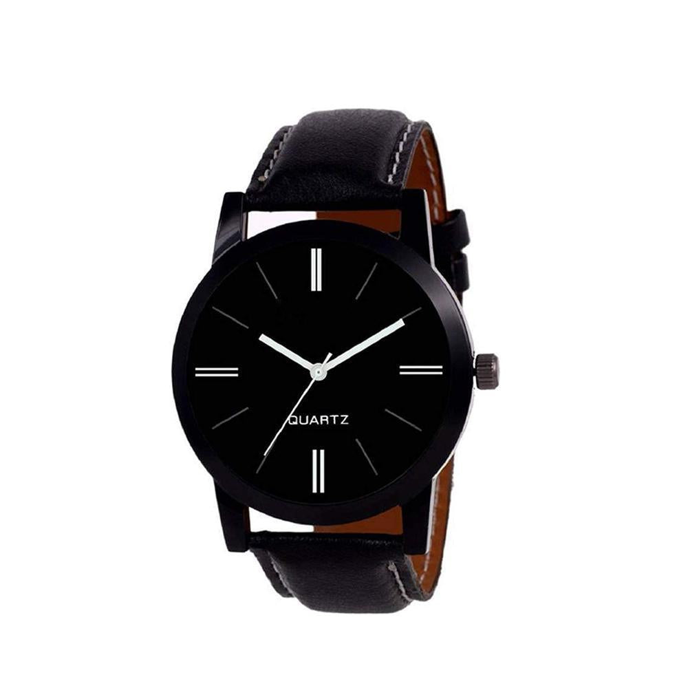 1806 Unique & Premium Analogue Watch Plain Black dial stylish watch (Watch 6)