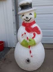 Electrified Large Plastic Snowman
