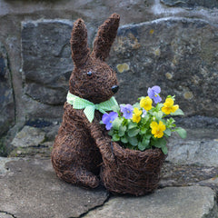 'Bunny' Topiary Coco Planter (without plants)