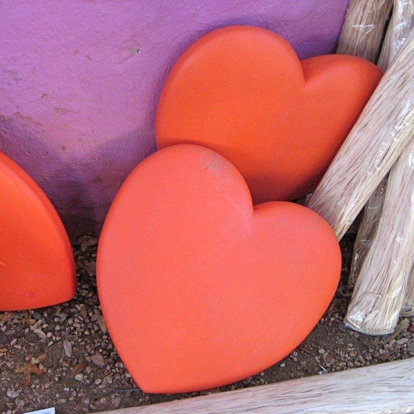 Gently Used Big Red Plastic Heart Demos (not lighted)