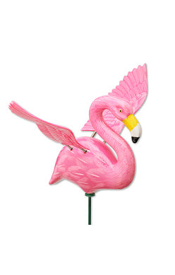 4' Mini Winged flamingo plant pot stake  Windy Wings