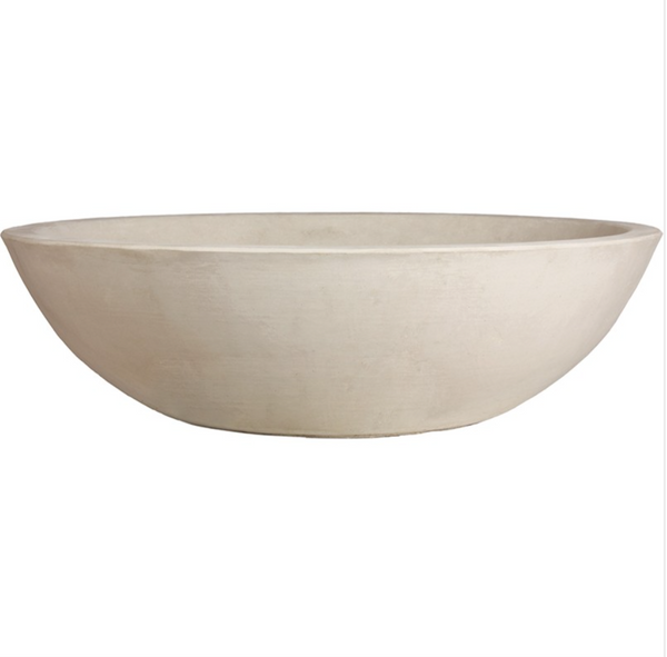 Planter - Cast Stone Modern Low Bowl Planter   7 Colors