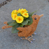 'Berrie' Topiary Coco Bird Planter (without plants)