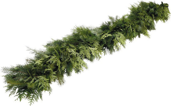 Mixed Garland sold per foot (please order by the foot, we cut the number of feet you want - FYI there are 75 feet in a full roll )