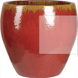 Planter - Asian Glazed Top Cut Planter - 7 Colors 2 sizes