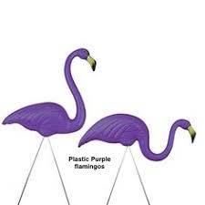 4) infamous Austin plastic 'Anna Marie' purple flamingos (pair)  new
