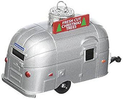 f)  Vintage 'Bambi' Airstream 'Fresh Cut Christmas Trees for Sale' Christmas Ornament