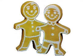 3) Vintage 50's Plastic Gingerbread Figure - lighted  (1 Piece - two sided)