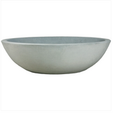 Planter - Cast Stone Modern Low Bowl Planter