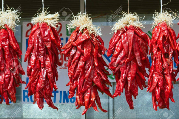 NEW Pre-Order Fresh Chile Ristras for Pick Up at a Flash Garden