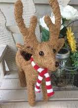 'Cocoa' Topiary Coco Reindeer Planter (with plants)