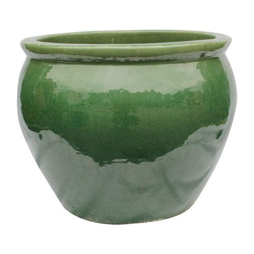 Planter - Asian Glazed Fishbowl Planter - 5 Colors  2 Sizes