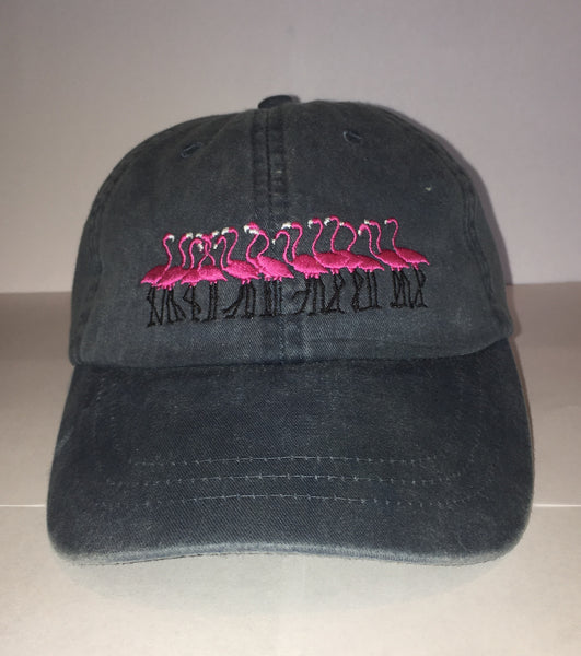 flamingo Embroidered Ball Cap