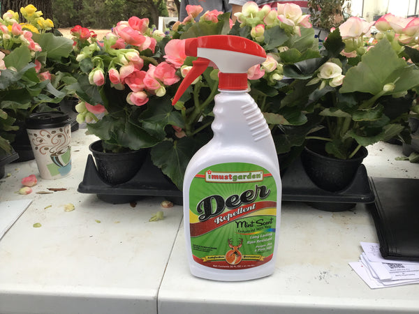 LAKEWAY  Organic Deer Repellent - I must Garden - mint scent  for walk in purchase at our Lakeway Flash Garden