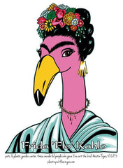 COLLEGE STATION  Official Fine Art - Flamingo T-Shirt  2021  'FRIDA' walk in purchase at our COLLEGE STATION Flash Garden