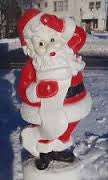 "3) Large Plastic Santa 43""  Lights up  Classic 50's Yard Art"