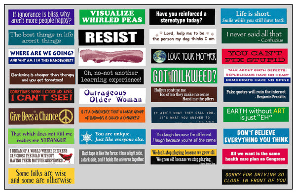 More Bumperstickers    GROUP 2