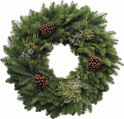 5)   Mixed Wreath with Cones