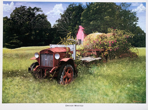 """Driver Wanted"" 1917 GMC Truck - Limited Edition Painting on Canvas"