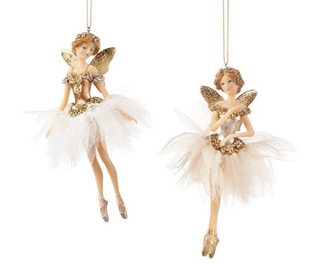 GOLD FAIRY ORNAMENTS