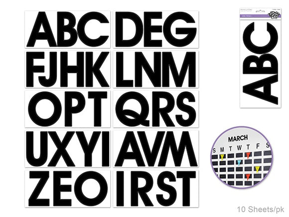 EXTRA LARGE CAP BLACK LETTER STICKERS