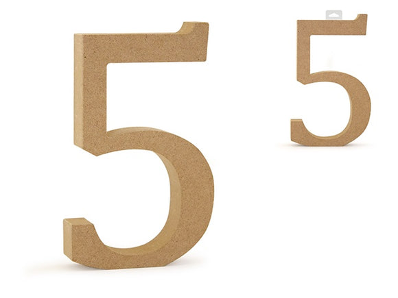 WOODEN NUMBER FIVE