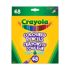 CRAYOLA 48 COLOURED PENCILS