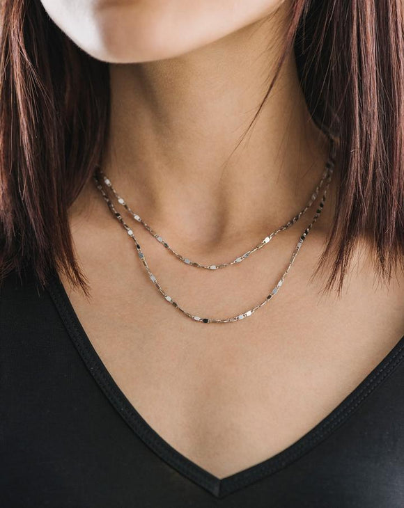 CLEO LAYERED NECKLACE - SILVER
