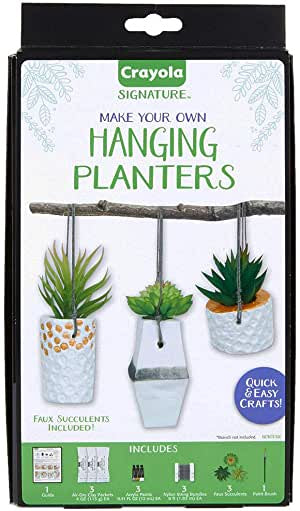 CRAYOLA MAKE YOUR OWN HANGING PLANTERS
