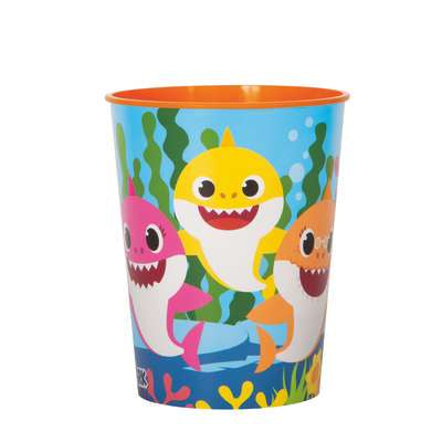 BABY SHARK 16OZ  PLASTIC CUPS