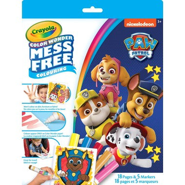 CRAYOLA MESS FREE COLOURING BOOK - PAW PATROL
