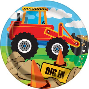 "CONSTRUCTION PARTY 7"" ROUND PLATES"