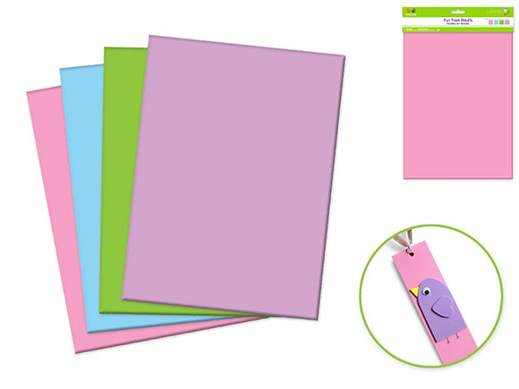 FUN FOAM SHEETS - PASTEL COLOURS