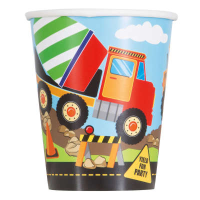 CONSTRUCTION PARTY 9OZ PAPERCUPS