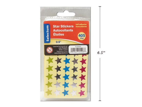 Foil Star Labels Asst SOTAL