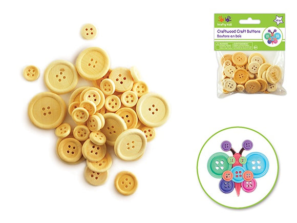 CRAFT WOOD BUTTONS