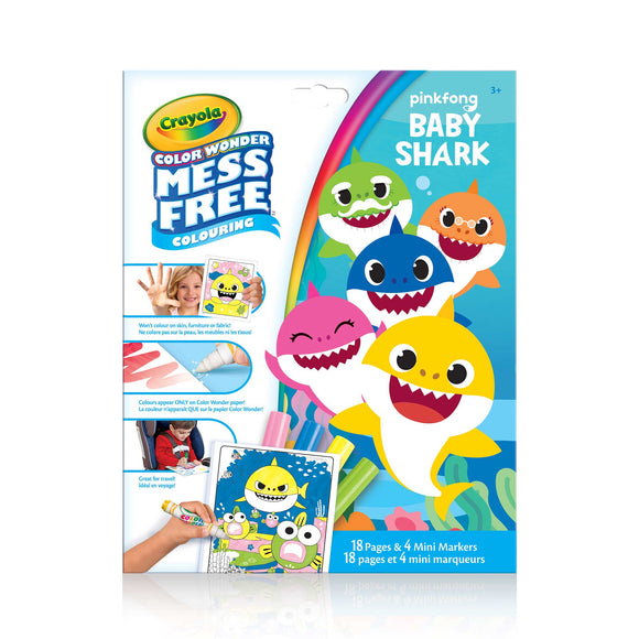 BABY SHARK MESS FREE COLOURING BOOK