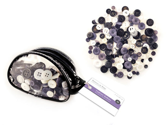 FASHION DYED BUTTONS IN PURSE