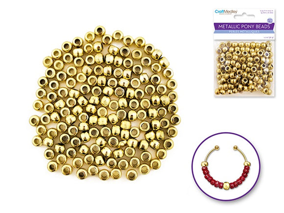 PONY BEADS OPAQUE GOLD