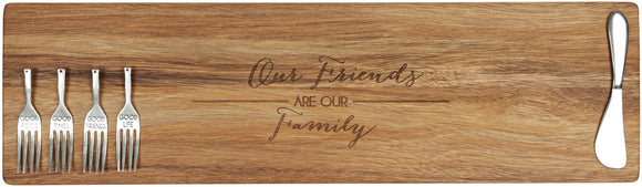 FRIENDS ARE FAMILY CUTTING BOARD