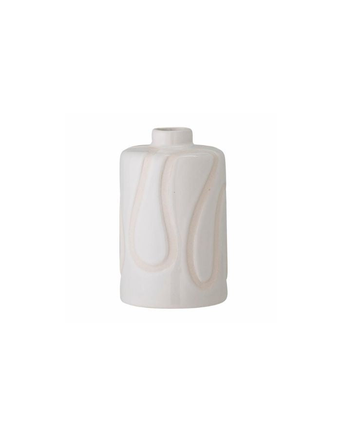 Vase White Waves