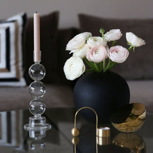 Vase Ball Black 20cm