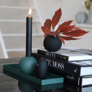 Vase Ball Black 8cm