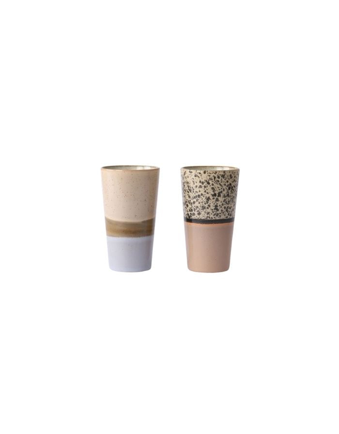 Latte Becher 2er Set 70's