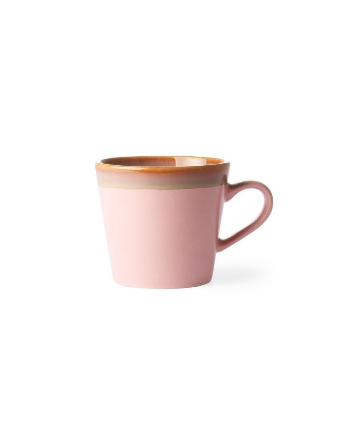 Cappuccino Becher 70's I Pink