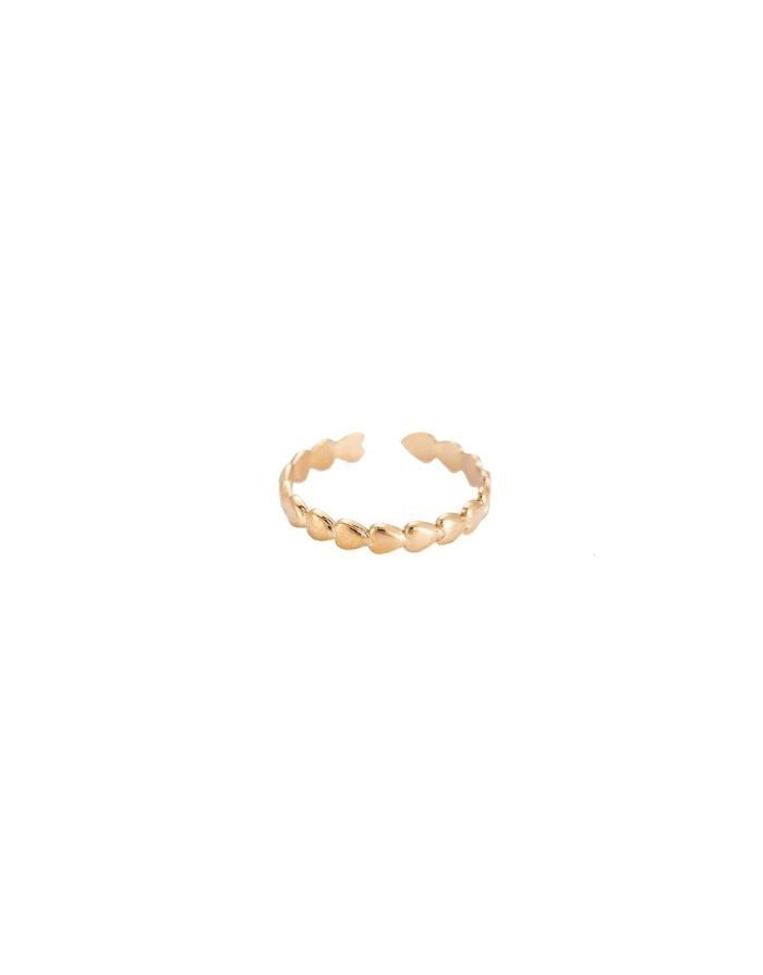Ring 'Heart in Line' I Gold