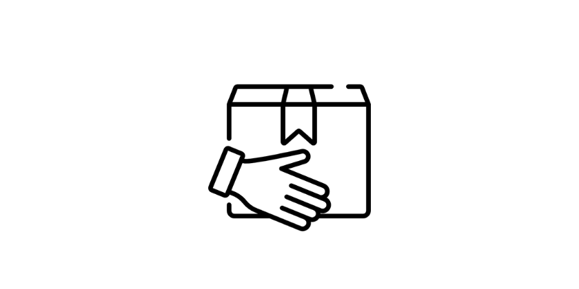 hands holding delivery box